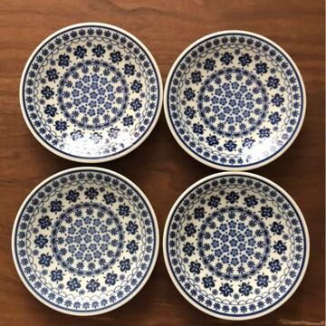 ポーリッシュ柄 小皿 4枚セット