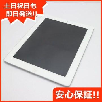 ●美品●au iPad第4世代Wi-Fi+cellular32GB ホワイト●