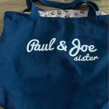 ポール&ジョー☆猫裏生地☆シンプルトートバッグ