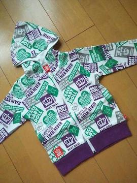 新品総柄パーカー120紫ベビドBABYDOLLベビードール