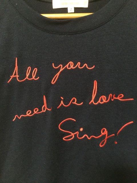 minimumネイビーロゴTシャツ < ブランドの