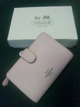 COACH★2つ折り財布★極美品★コーチ★ピンク★可愛い♪