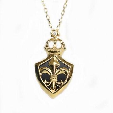 【新品未使用】K18 ゴールド ネックレス フレア 百合の紋章