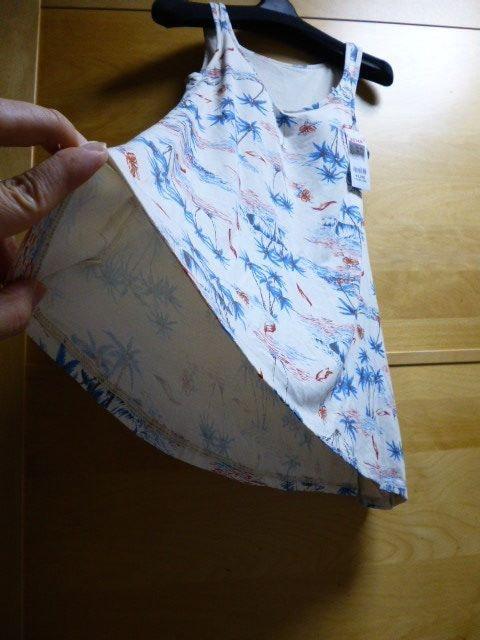 ボディクーラー東原亜希タンクMカップ付きチュニック柄アロハ < 女性ファッションの