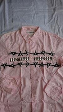 美品!! コム デ ギャルソン シャツ スタッズシャツ カラーピンク サイズM