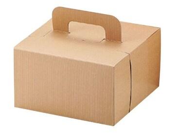 V-day デコ ケーキ ボックス 18cm シフォン兼用 クラフト