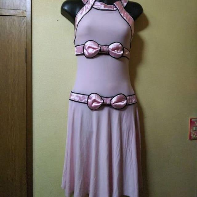 USED★ストレッチ★サテンリボンワンピ  < 女性ファッションの