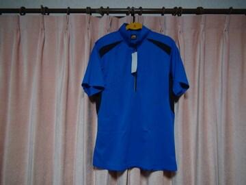ASのポロシャツ(LL)ブルー&ブラック新品タグ付き袋入り! 1