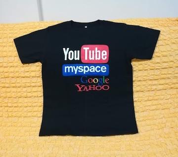 YouTube★おもしろジョークTシャツ★黒★ブラック★M★