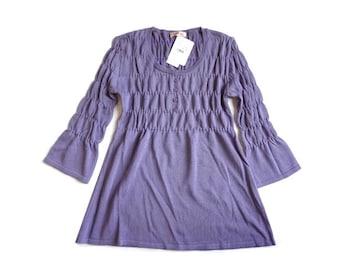 新品 定価3980円 AMVERIEL ニット チュニック セーター 七分袖