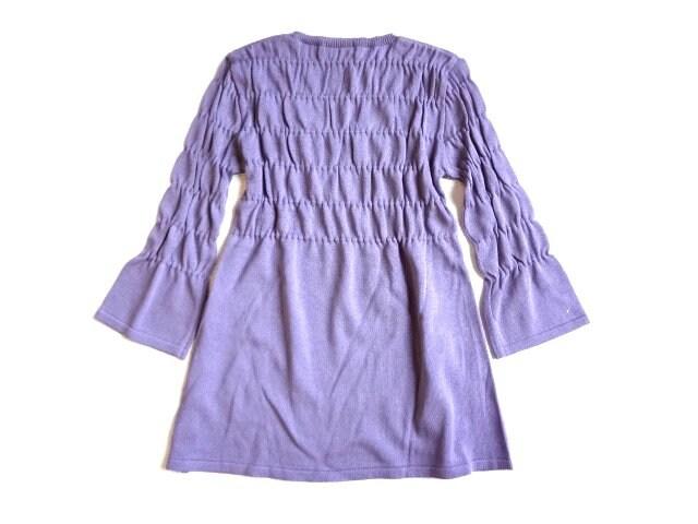 新品 定価3980円 AMVERIEL ニット チュニック セーター 七分袖 < 女性ファッションの