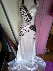 高級Swallowtailビジュ&ビーズ盛ウエストお腹背中sexyドレス 新品