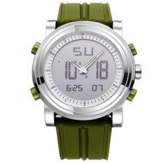 スポーツ腕時計 ファッション デジタル アナログ 緑