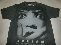 レア【AEROPOSTALE】USA人気ホラー【Scream】悲鳴プリントT US S
