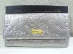 Disney/ミッキーマウスプレミアム型押しロングウォレット☆長財布メタリック