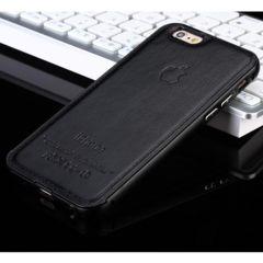 iPhone5/5s/SE ブラック レザー ハードバンパー