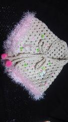 【送込\700〓処分セール】A10〓手編み三角ストール▽