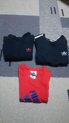 格安♪子供用アディダス(adidas)トレーナー2枚&Tシャツ1枚の3点