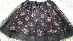 キッズ160花柄ミニスカート