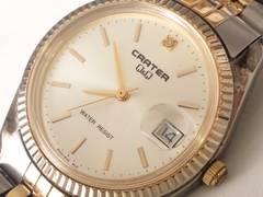 8917/CRATER★高級感漂うコンビ仕様メンズ腕時計ロレックスに負けない