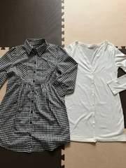 秋冬コーデ*白ガーデ&ギンガムチェックシャツ羽織りok