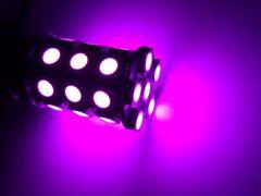 24V LED S25 シングル 27連 2個 ピンク 桃 マーカー球 BA15s