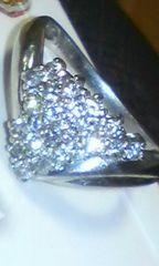 Pt900◇天然ダイヤモンド0.52ct豪華デザインリング