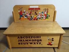 ディズニー 年代物 木製収納 おもちゃ箱