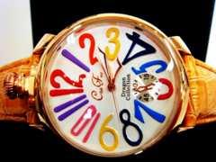 正規club faceイエローベルト腕時計◆GAGAガガミラノtype◆