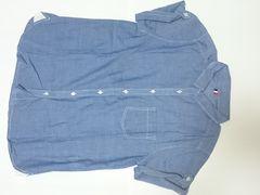 GU (ジーユー) シャツ ブルー Lサイズ 重ね着に 未使用