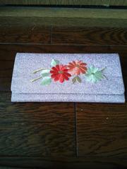 長財布 花柄刺繍
