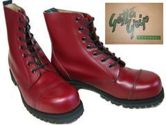 ゲッタグリップおでこ靴7ホール ブーツ新品7507CRスチール入uk4