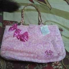 ディズニーミニーマウス もこもこトートバッグ