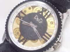 4844/ドルチェ&ガッバーナDG★メカニカルダイヤル確実正規品メンズ腕時計