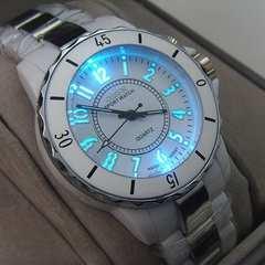 世界時計♪7色LEDのユニセックス腕時計OHSEN