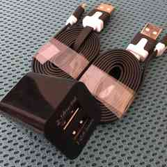 黒 【送料無料】2口USB充電アダプター