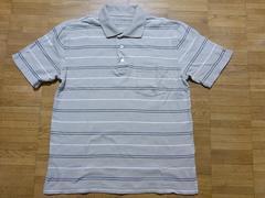 即決USA古着●croft&barrowボーダーデザイン半袖ポロシャツ!アメカジ