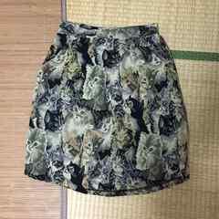 ゴブラン織り猫柄スカート。