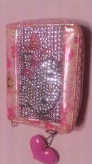 シュガーバニーズのピンクの可愛い2つ折り財布
