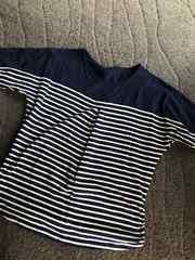 妊婦さん 授乳服 ボーダーTシャツ