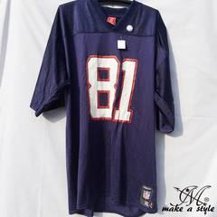 NFL フットボールシャツ Patriots ネイビー REEBOK XL 678