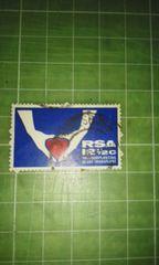 南アフリカ12.5c切手(ハート)♪