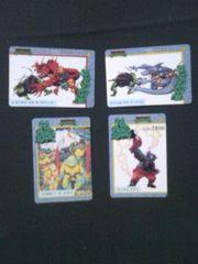 ◆ミュータントタートルズ/カード/4枚