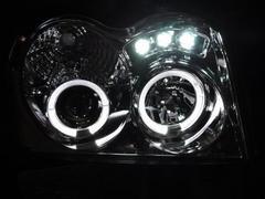 イカリングプロジェクターヘッドライト グランドチェロキー 05y〜黒BK グラチェロ
