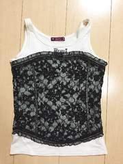◆ 超美品 ◆ RONI ◆ 白 ノースリーブ 洋服 ロニィ M
