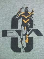 エヴァ 零号機 初号機 弐号機 イラスト プリント Tシャツ グレー Mサイズ ユニクロ