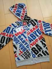 新品ロゴ総柄ジャケットパーカー130ベビードールBABYDOOLベビド