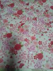 ☆処分品新品白×桜蝶々ラメ入柄ダボシャツ160