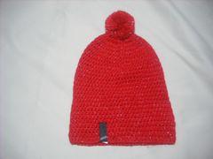 wb422 女 RIP CURL リップカール ボンボン付き ニット帽 赤