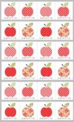 □ありがとうシール★B-3*りんご…4種24枚♪
